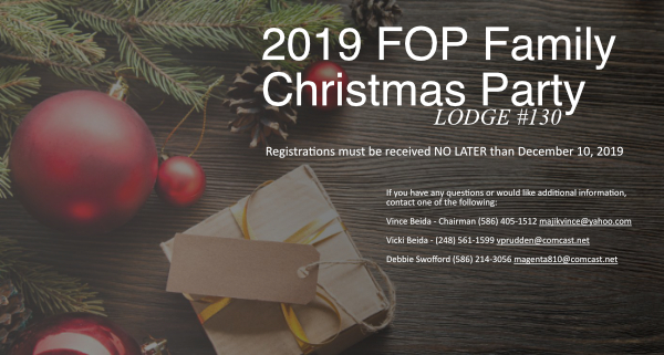 2019 FOP Lodge #130 Family Christmas Party